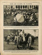 Bataille de l'Artois Tirailleurs Marocains Camps Tentes Canons de 155 1915 WWI