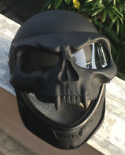 Motorcycle Helmet Skull Monster Death Black Knight Full Face Novelty 3D Visor