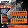 14PC Security Tamper Proof Torq Torx Hex Bit Set Star Resistant S2 Steel T5 -T40