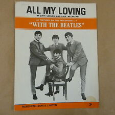 song sheet ALL MY LOVINGS, The Beatles, 1963