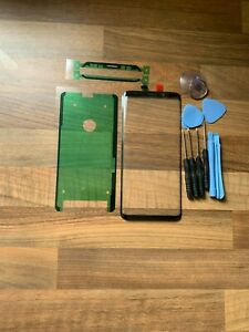NEW Front Glass Screen Replacement For Samsung Galaxy S9 Plus With Adhesive UK