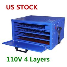USA 110V 4 Layers Screen Printing Drying Cabinet Screen Press Warming Machine