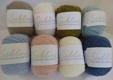 SUBLIME Baby Cashmere Merino Silk 4 Ply x 50g ~ K012 ~ Choose Colour