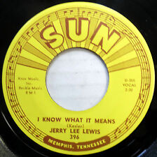 JERRY LEE LEWIS 45 I Know what It Means / Carry Me NEAR MINT Rockabilly cc951
