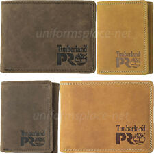Timberland Pro Leather Wallet Men RFID PULLMAN Passcase, Bifold, Trifold Wallets