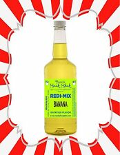 Shaved Ice Syrup - Banana Flavor In Longneck Quart Size #1Snoball