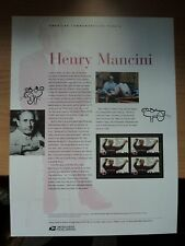 USA Commemorative Panel #707 2004 Apr 13 Henry Mancini #3839