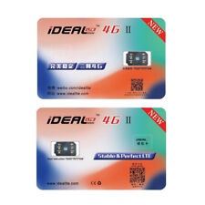 iDeal II Unlock Turbo Sim Card For iPhone X 8 7 6S 6 Plus 5/5S SE LTE 4G GPP