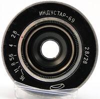 INDUSTAR-69 2.8/28 Russian Soviet USSR Wide Angle Pancake Lens M39 MMZ-LOMO #52
