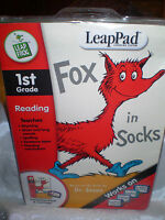 LeapFrog Leappad 1st Grade Fox in Socks Dr. Seuss Reading Book Cartridge & Book!