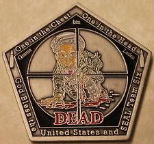 Osama Bin Laden Seal Team Six / 6 September 9-11 Pentagon Shaped Challenge Coin