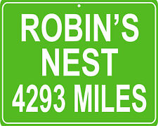 Magnum P.I. TV Show Robin's nest custom mileage sign - distance to your house