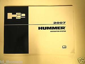GM 2007 Hummer H2 Navigation Manual #15891548A