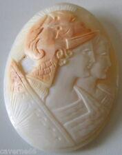 camée coquille 19 ème double portrait femme guerrière déesse warrior goddesses