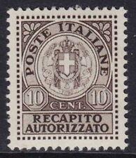 ITALIA 1930 - RECAPITO AUTORIZZATO - C.10 - MNH