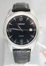 Kienzle Men's V60191131980 Klassik Black Dial Watch Black Leather Strap NEW
