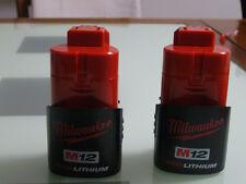 2 New Milwaukee M12 RED Lithium 12v volt Battery 48-11-2401 for 2401-20 2410-20