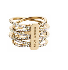 51b667a4db6 Michael Kors Gold SS Ring Pave Intertwined Size 7 Mkj4422 Mkj44227109
