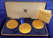 Royal Mint, Royal Observatory Tercentenary Bronze Medal Set + Case (Ref. t0803)