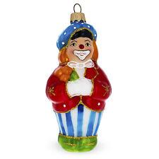 Clown Glass Christmas Ornament