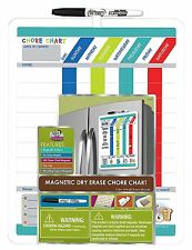 The Board Dudes Magnetic Dry Erase Rewards Chore Chart W/Marker & Magnets DFB55