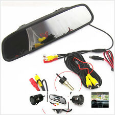 """HD 4.3"""" LCD Car rearview mirror Display Screen+170°Wide Angle Camera With Drill"""