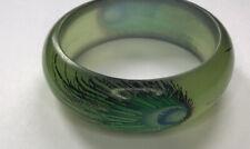Green Peacock  Reasin Bangle