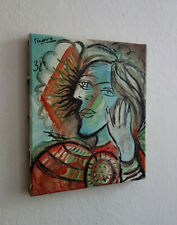 Cubist oil on canvas Painitng w COA, signed Pablo Picasso, Rare uniqe artwork