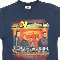 Vtg 2K NSync Tour T-Shirt SMALL No Strings Attached Winterland Justin Timberlake