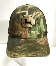 John Deere Trucker Hat Camo Snapback Mesh Cary Francis Group Brown Green