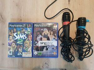 PS2 Sing Star Konvulut Mikrofon singstar R&B Sims 2