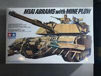 Tamiya  1/35 US M1A1 Abrams w/ Mine Plow,  Tamiya #35158, BRAND NEW SEALED