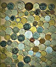 "World Coins lot ""F"",100+w/1922 Peace $,Bimetallic(3)+vintage(2)+ A.U/.B.U.(6)"