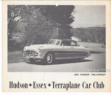 "Vintage Hudson - 1951 Hudson ""Hollywood"" - HET Car Club - 9 3/4"" by 8 1/4"" Print"