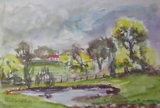 "RON OLIVER WEST AUSTRALIAN WC ""FARM AT MUNDARING PERTH HILLS"" 1960"