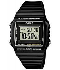 Orologio CASIO ILLUMINATOR W-215H-1AVDF Silicone Nero Chrono Sveglia Uomo Donna
