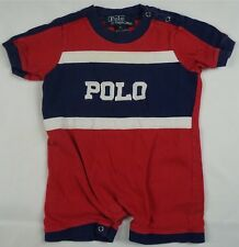Rare Vintage POLO RALPH LAUREN Spell Out Embroidered  90s Toddler SZ 3-6M