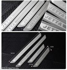 Chrome 4Pcs Door Sill Scuff Plate For VW JETTA 4 5 6 MK4 MK5 MK6 MKIV MKV MKVI