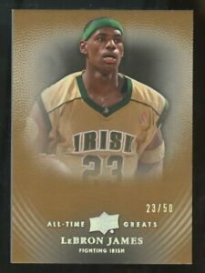 """2013 Upper Deck All-Time Greats Gold LeBron James """" JERSEY # """" 23/50"""