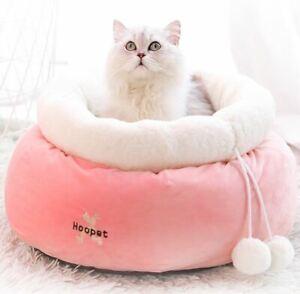 Warm Round Pet Dog Cat Sofa Bed House Deep Sleeping Bag Basket Puppy Kitty +ball