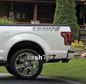 POWER UNLEASHED FORD Truck F150 F250 F350 Dually XLT XL 4x4 Decal sticker SILVER
