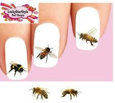 Waterslide Nail Decals Set of 20 - Bumble Bees & Honey Bees Assorted