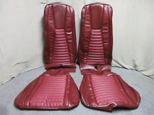 71 72 73 Mustang Mach 1 Bucket Seat Full Upholstery Set Reproduction Maroon Red