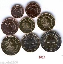 Tira completa 1 cnt a 2 euros Chipre 2014, S/C de cartucho