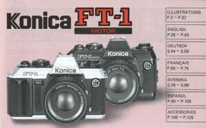 Konica FT-1 Motor Camera Instruction Manual Original Multi-language