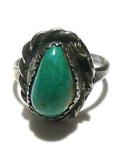 WOMENS ESTATE VINTAGE STERLING SILVER & TURQUOISE SOUTHWESTERN RING SIZE 6.5
