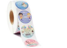Round Religious Stickers (2.5cm) Christian Bible Verse 8 Styles Kids School