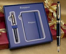 Waterman Expert Fountain Pen Gift Set - Black Gold Trim