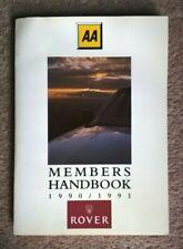 Rare Rover AA Members Handbook 1990 1991 Mini Cooper Flame 214 216 827 Vitesse