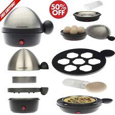 Electric Egg Cooker Poacher Omelet Maker Stainless Steel Tray 7-Egg Cooker new